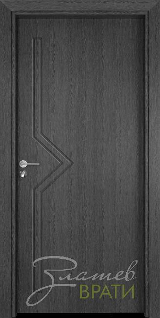 Интериорна врата Gama 201 p, цвят Сив кестен