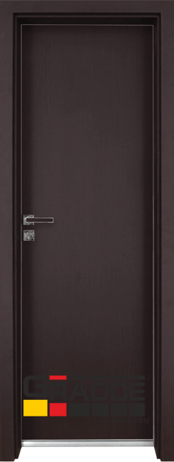 Алуминиева врата серия Граде цвят Орех райбера
