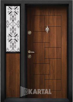 Еднокрила входна врата T-100 - Цвят Златен дъб