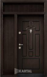Еднокрила входна врата T-108 - Цвят тъмен орех