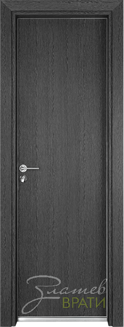 Алуминиева врата серия Гама цвят Сив кестен