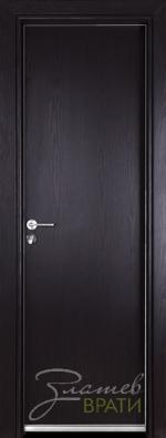 Алуминиева врата серия Гама цвят Венге
