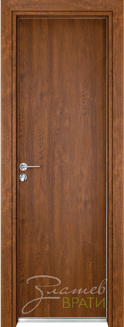 Алуминиева врата серия Гама цвят Златен дъб