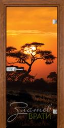 Print G 13 17 African Sunset Z